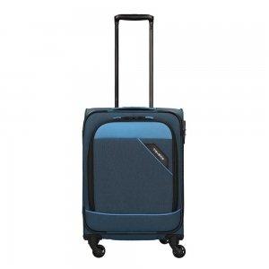 Travelite Derby 4 Wiel Trolley 55 blue Zachte koffer
