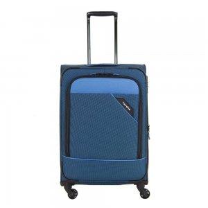 Travelite Derby 4 Wiel Trolley 66 Expandable blue Zachte koffer