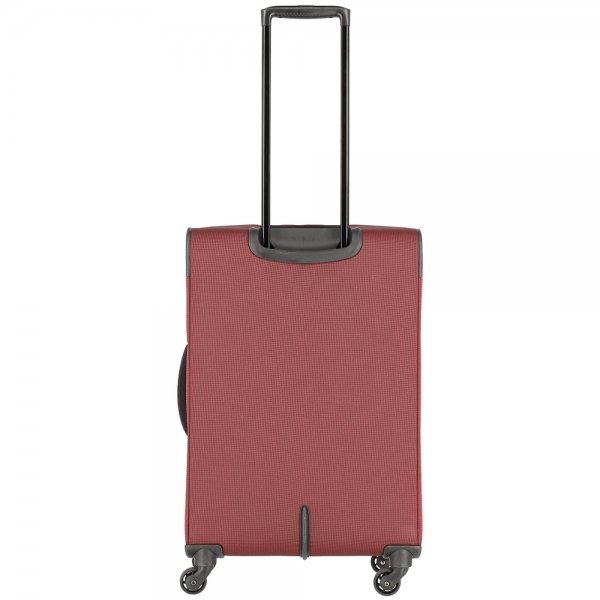 Travelite Derby 4 Wiel Trolley 66 Expandable red twotone Zachte koffer van Polyester