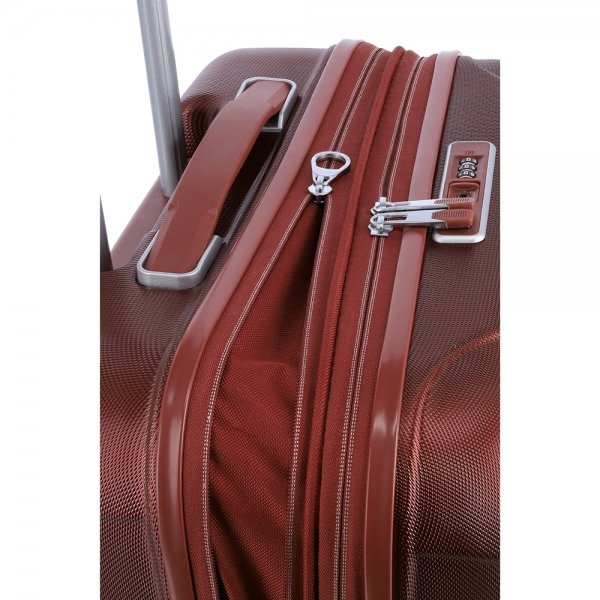 Travelite Elbe 4 Wiel Trolley M Expandable red Harde Koffer