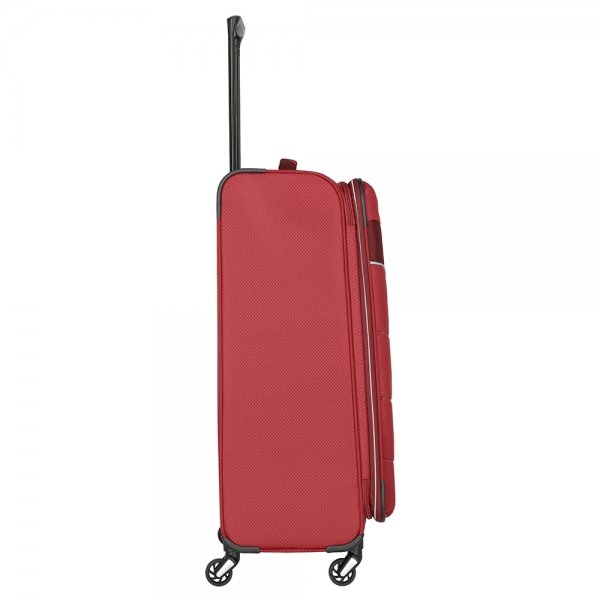 Travelite Kite 4 Wiel Trolley L Expandable red Zachte koffer