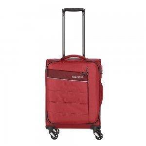 Travelite Kite 4 Wiel Trolley S red Zachte koffer