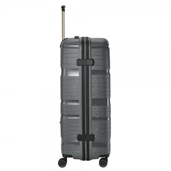 Travelite Motion 4w Trolley L anthracite Harde Koffer van Polypropyleen