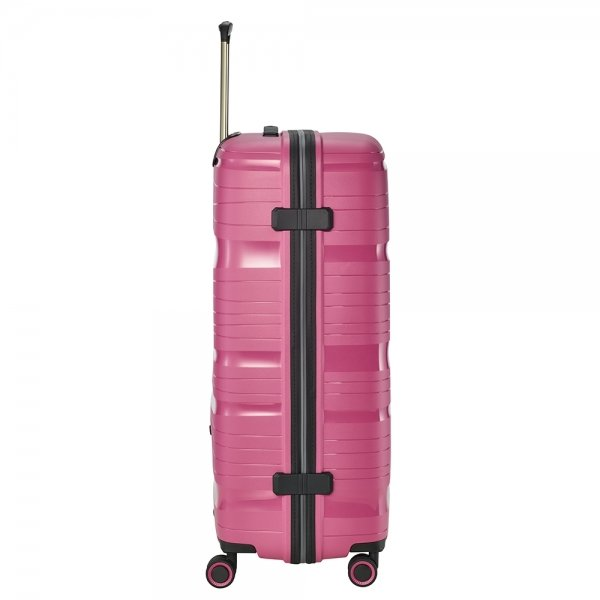 Travelite Motion 4w Trolley L rose Harde Koffer van Polypropyleen