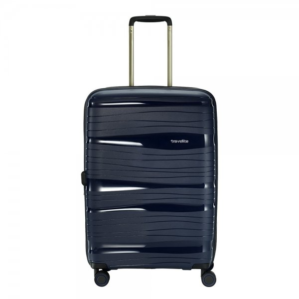 Travelite Motion 4w Trolley M expandable navy Harde Koffer