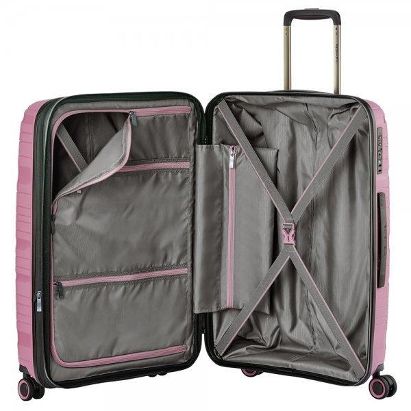 Travelite Motion 4w Trolley M expandable rose Harde Koffer van Polypropyleen