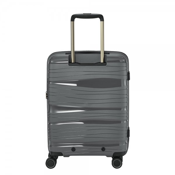 Travelite Motion 4w Trolley S Frontpocket anthracite Harde Koffer van Polypropyleen