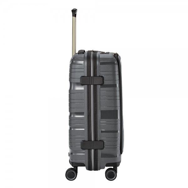 Travelite Motion 4w Trolley S Frontpocket anthracite Harde Koffer