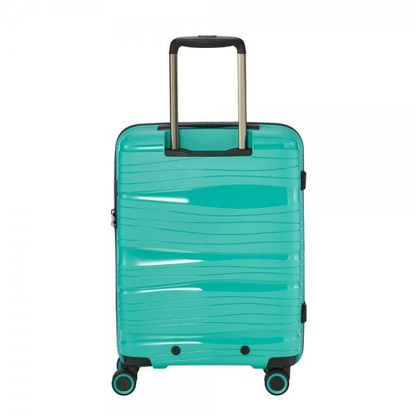Travelite Motion 4w Trolley S Frontpocket mint Harde Koffer van Polypropyleen