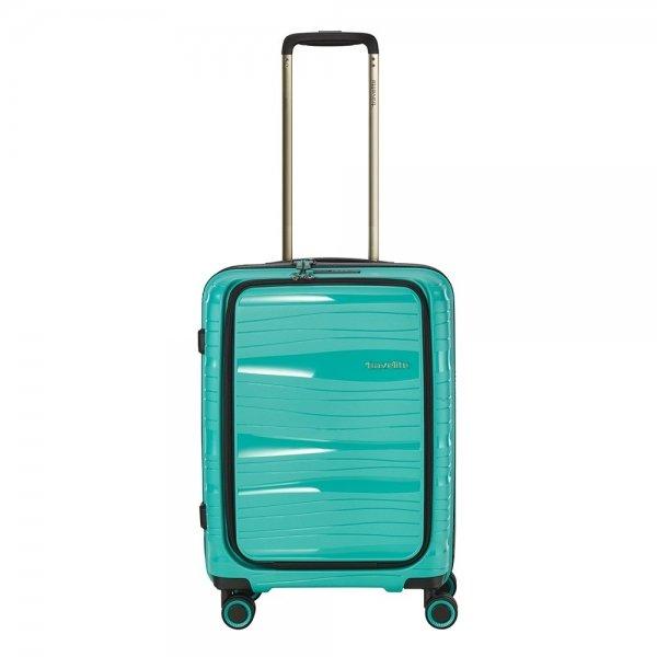 Travelite Motion 4w Trolley S Frontpocket mint Harde Koffer