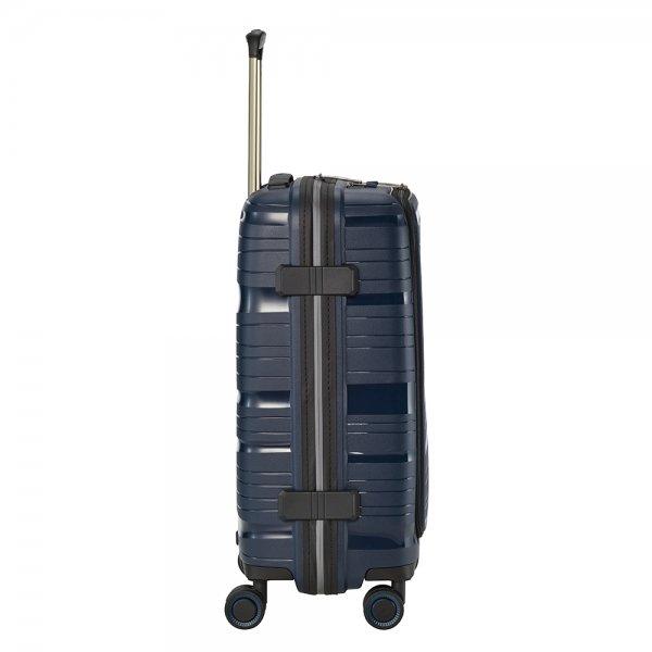 Travelite Motion 4w Trolley S Frontpocket navy Harde Koffer