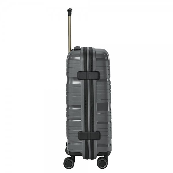 Travelite Motion 4w Trolley S anthracite Harde Koffer van Polypropyleen