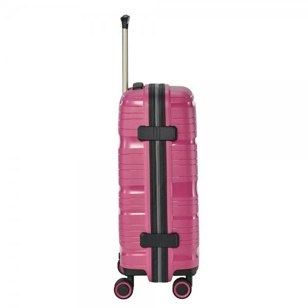 Travelite Motion 4w Trolley S rose Harde Koffer van Polypropyleen