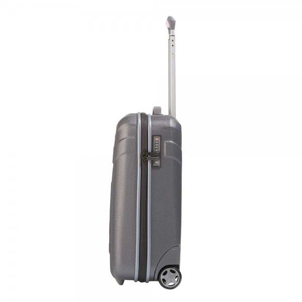 Travelite Vector 2 Wiel Trolley S anthracite Harde Koffer van ABS