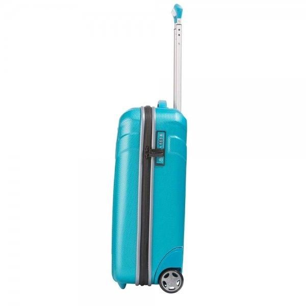 Travelite Vector 2 Wiel Trolley S turquoise Harde Koffer van ABS