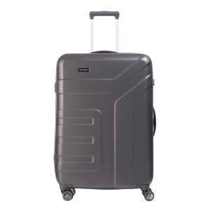 Travelite Vector 4 Wiel Trolley L anthracite Harde Koffer