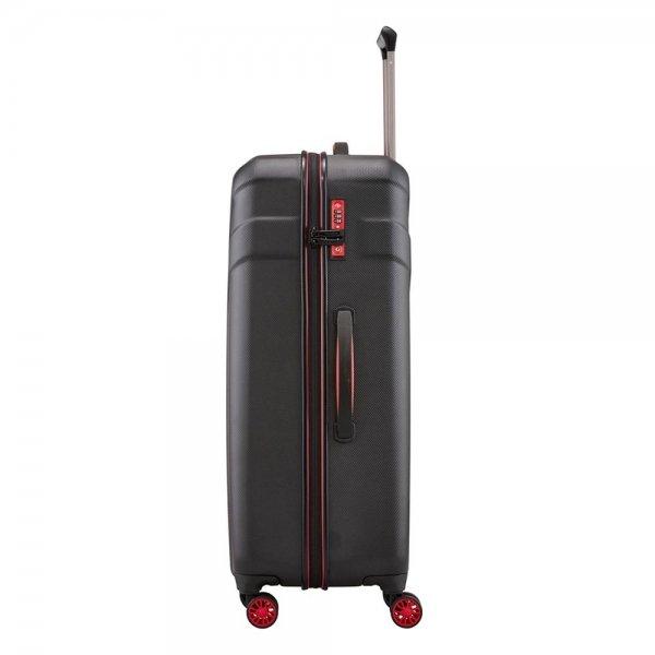 Travelite Vector 4 Wiel Trolley L black Harde Koffer van ABS