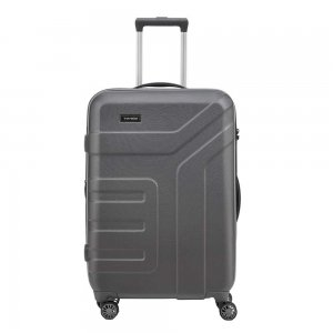 Travelite Vector 4 Wiel Trolley M Expandable anthracite Harde Koffer