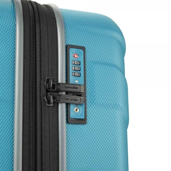 Travelite Vector 4 Wiel Trolley M Expandable turquoise Harde Koffer van ABS