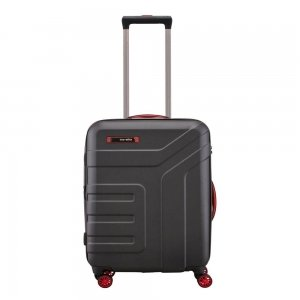 Travelite Vector 4 Wiel Trolley S black Harde Koffer