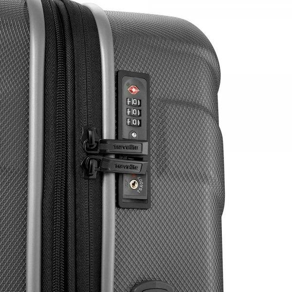 Travelite Vector 4 Wiel Trolley S coral Harde Koffer van ABS