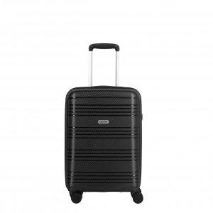 Travelite Zenit 4 Wiel Trolley S black Harde Koffer