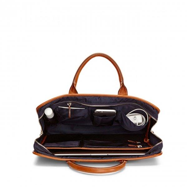 Travelteq Briefcase Original cognac/navy Aktetas van Leer