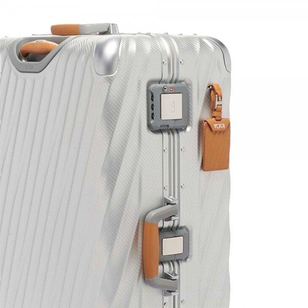 Tumi 19 Degree Aluminium Extended Trip Packing Case texture silver Harde Koffer van Aluminium