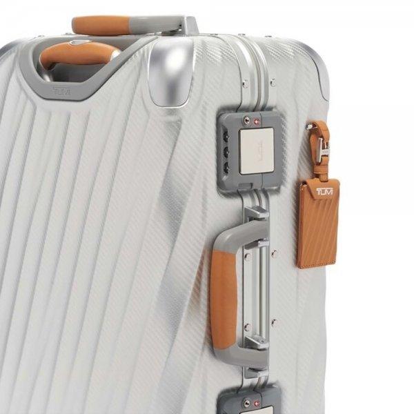 Tumi 19 Degree Aluminium International Carry On texture silver Harde Koffer van Aluminium