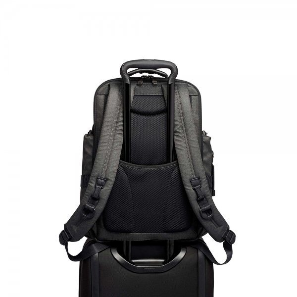 Tumi Alpha Bravo Sheppard Deluxe Brief Pack graphite backpack van Nylon