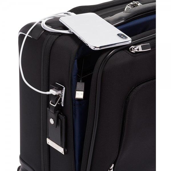 Tumi Arrivé Compact 4 Wheel Briefcase black Pilotenkoffer