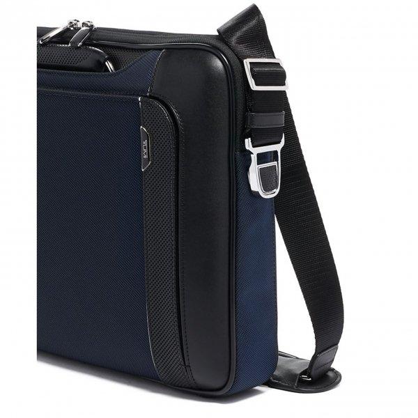 Tumi Arrivé Hannover Slim Briefcase navy van Polyester