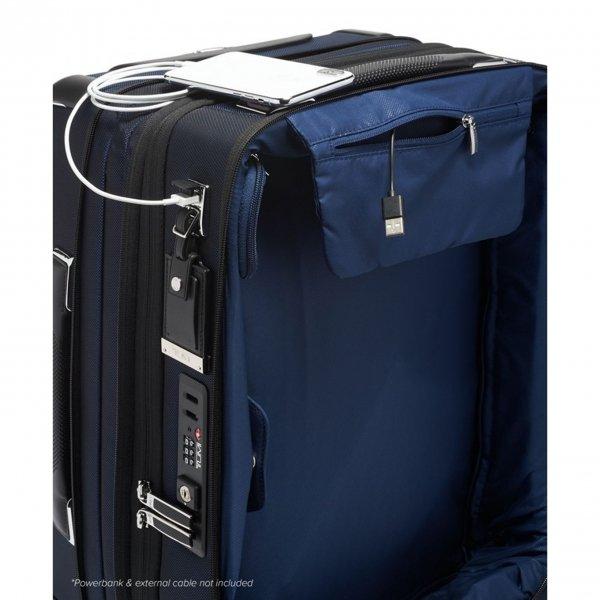 Tumi Arrivé International Dual Acces 4 Wheel Carry-On navy Zachte koffer