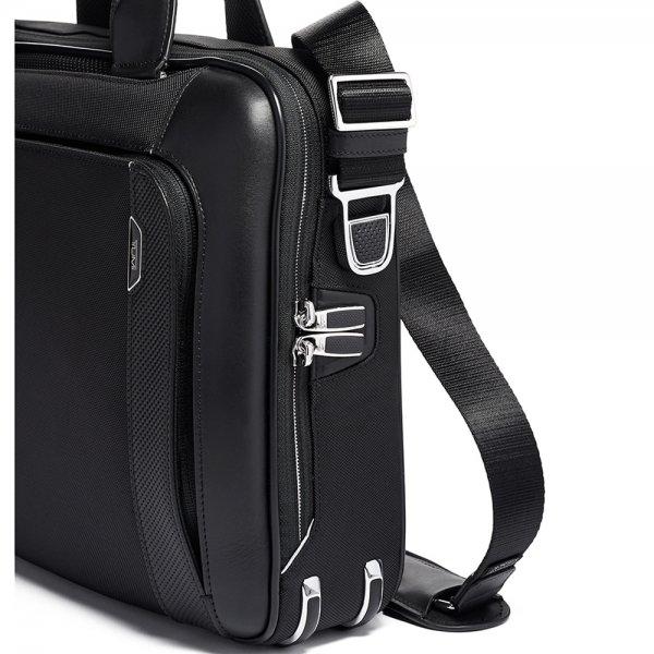 Tumi Arrivé Sadler Briefcase black2 van Polyester
