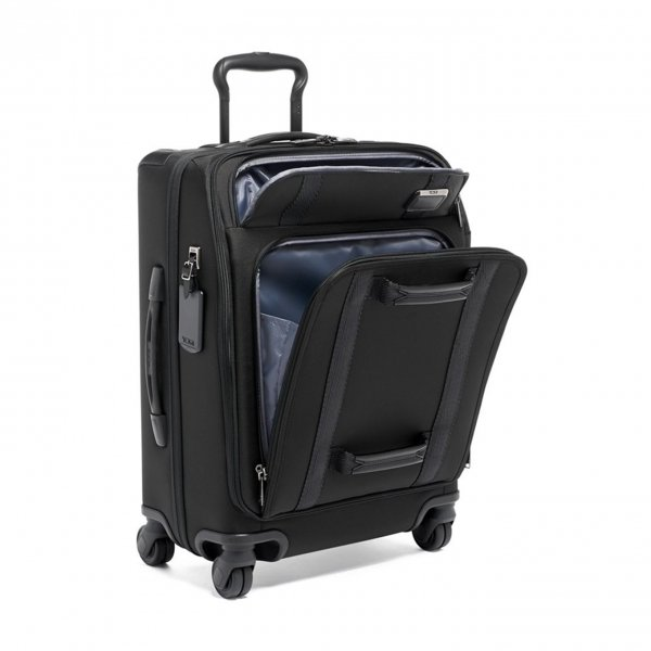 Tumi Merge Continental Front Lid 4 Wheeled Carry-On black Zachte koffer van Nylon