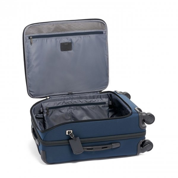 Tumi Merge Continental Front Lid 4 Wheeled Carry-On navy Zachte koffer van Nylon