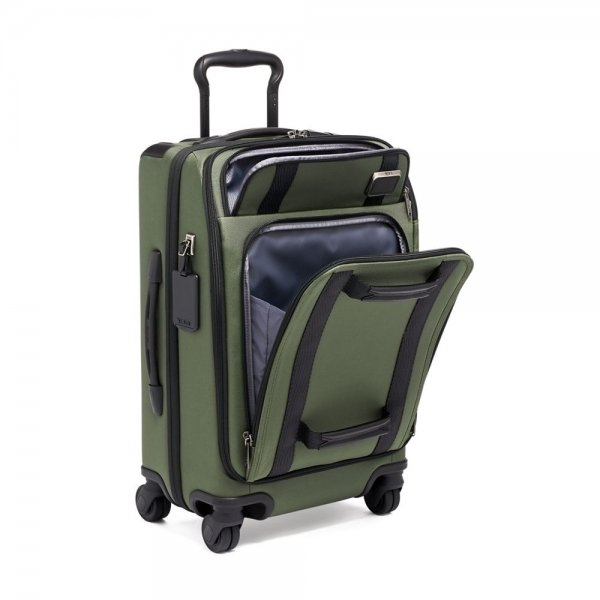 Tumi Merge International Front Lid 4 Wheeled Carry-On forest Zachte koffer van Nylon