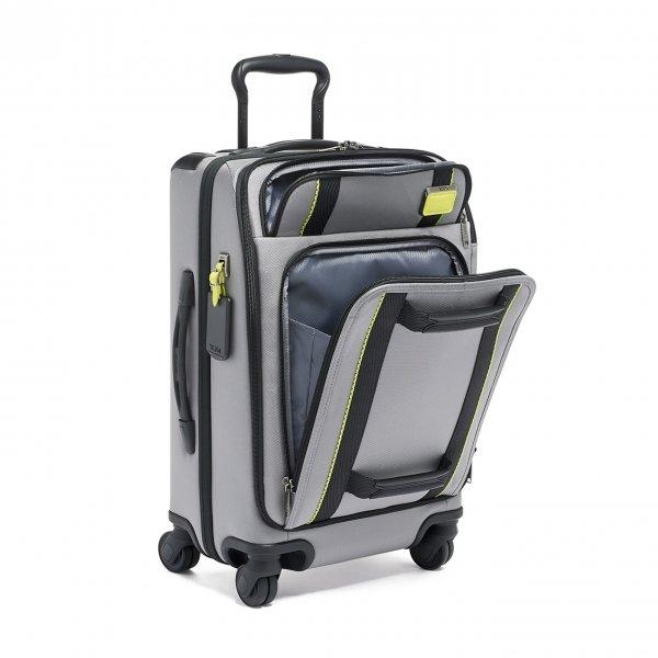 Tumi Merge International Front Lid 4 Wheeled Carry-On grey/bright lime Zachte koffer van Nylon