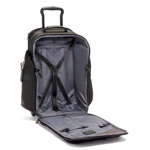 Tumi Merge Wheeled Backpack black Handbagage koffer Trolley van Nylon