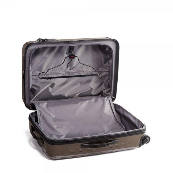 Tumi V4 Short Trip Expandable 4 Wheeled Packing Case mink Harde Koffer van Polycarbonaat