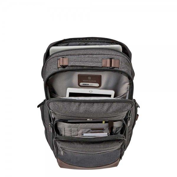Victorinox Architecture Urban Rath Slim Backpack grey / brown backpack van Polyester