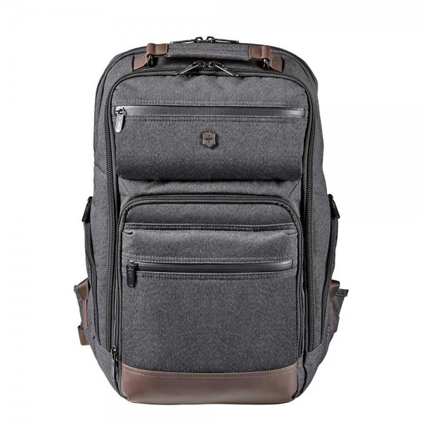Victorinox Architecture Urban Rath Slim Backpack grey / brown backpack
