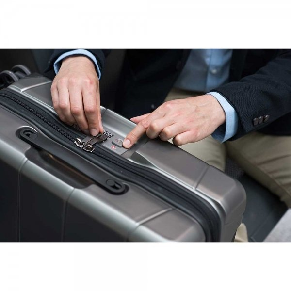 Victorinox Lexicon Frequent Flyer Carry-On titanium Harde Koffer van Polycarbonaat