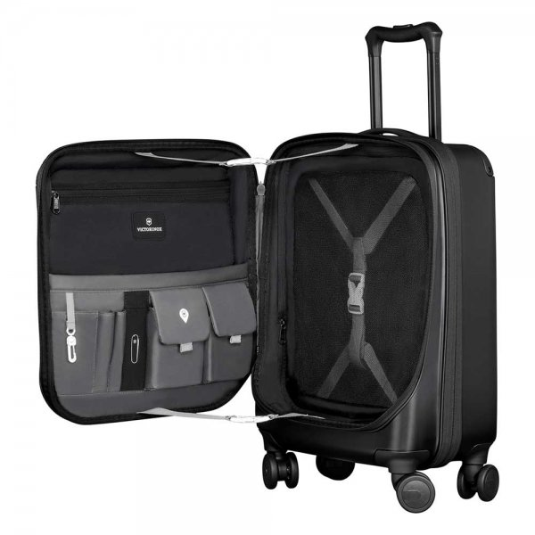 Victorinox Spectra 2.0 Expandable Global Carry-on 55 black Harde Koffer van Polycarbonaat