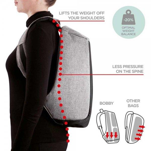 XD Design Bobby Anti-diefstal Rugzak grey backpack van Polyester