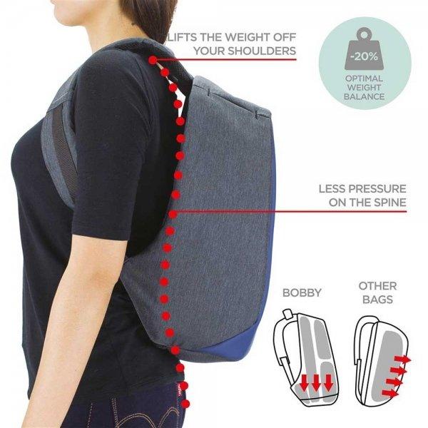 XD Design Bobby Compact Anti-diefstal Rugzak pastel blauw backpack van Polyester