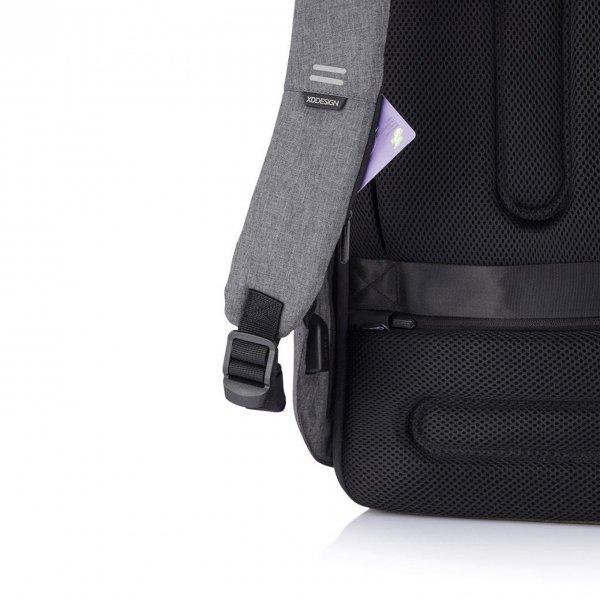 XD Design Bobby Hero Regular Anti-diefstal Rugzak grey backpack van Polyester