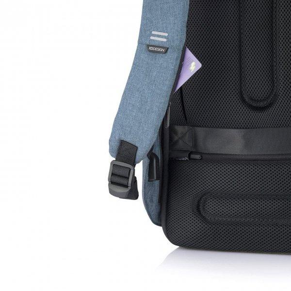 XD Design Bobby Hero Regular Anti-diefstal Rugzak light blue backpack van Polyester