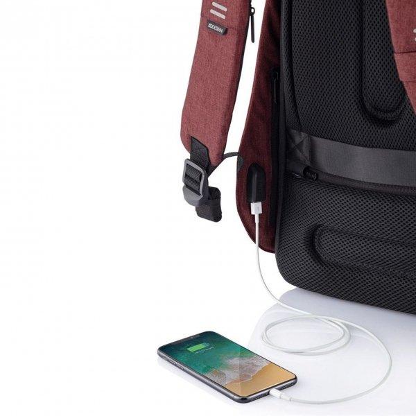 XD Design Bobby Hero Regular Anti-diefstal Rugzak red backpack van Polyester
