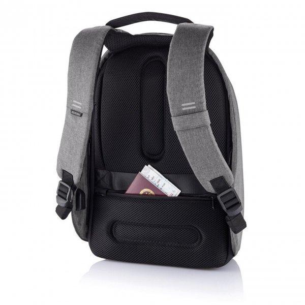 XD Design Bobby Hero Small Anti-diefstal Rugzak grey backpack van Polyester